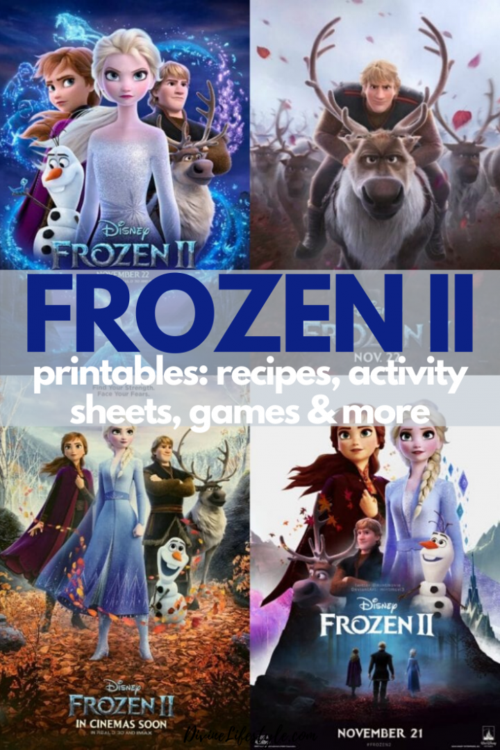 FROZEN II Printables Recipes Activity Sheets and Games #DisneyFrozen FROZEN 2