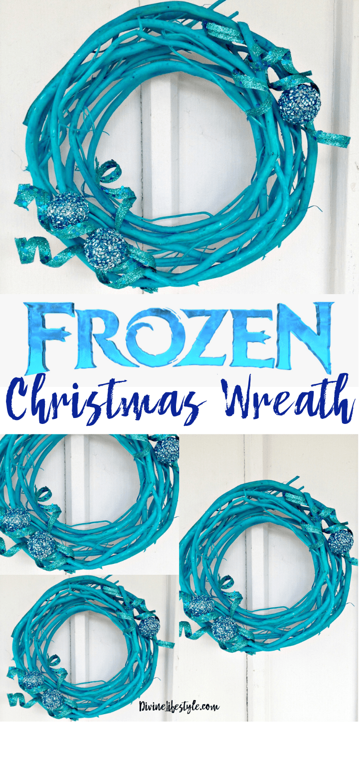 DIY FROZEN Inspired Christmas Wreath