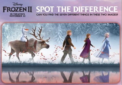 FROZEN II Printables Recipes Activity Sheets and Games #DisneyFrozen Spot the Difference