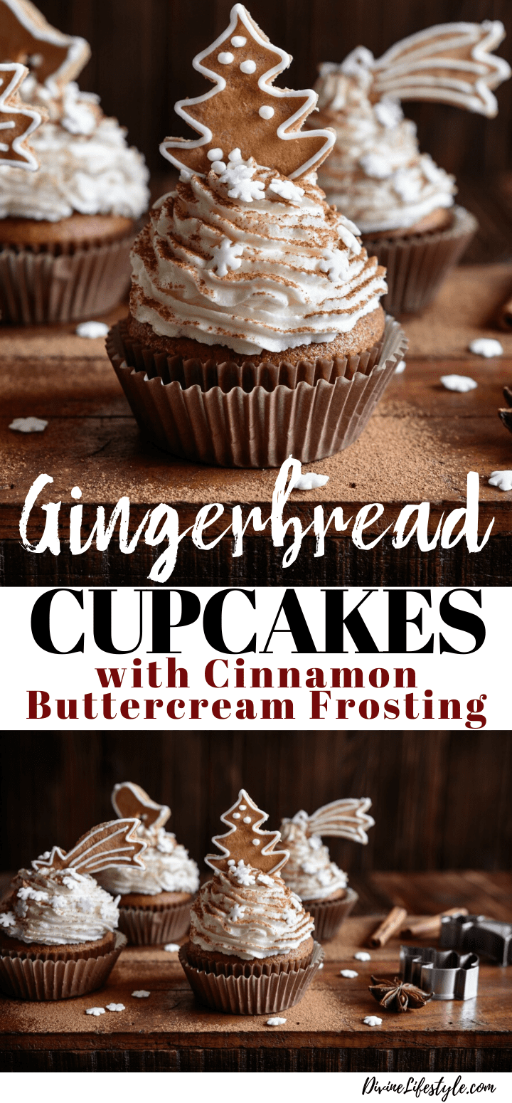 Gingerbread Cupcakes with Cinnamon Buttercream Frosting Recipe