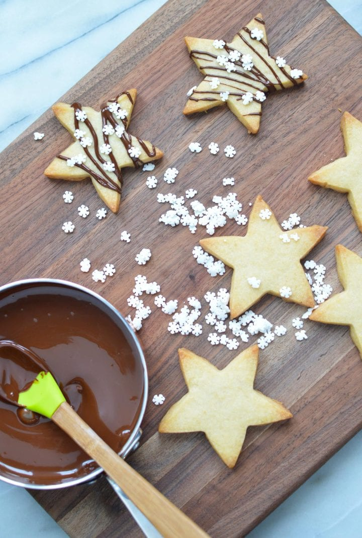 Holiday Stars Shortbread Cookies