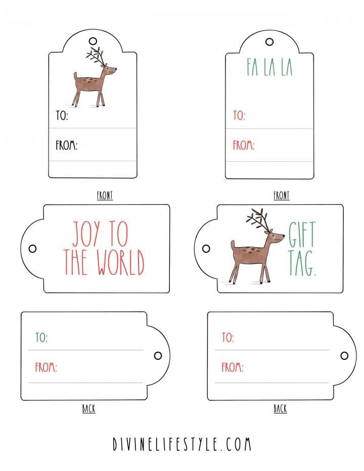 FREE Printable Rae Dunn Inspired Christmas Gift Tags