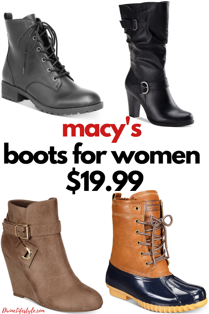 Women's Boots at Macy's for $19.99
