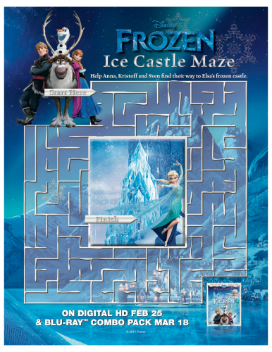 FROZEN II Printables Recipes Activity Sheets and Games #DisneyFrozen Frozen Ice Castle Maze