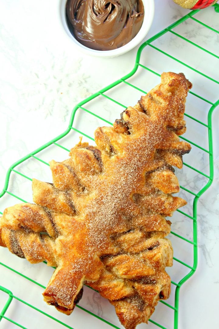 Churro Nutella Puff Pastry Christmas Tree