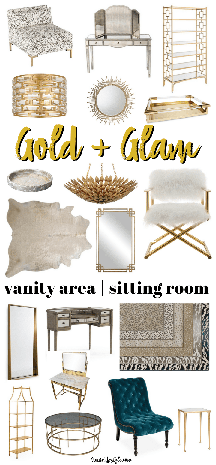 Chic Sitting Room Ideas | Gold and Glamorous