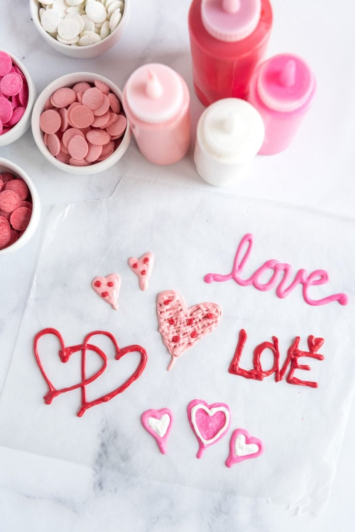 Valentine's Day LOVE Ombre Pancakes Recipe Letters Hearts