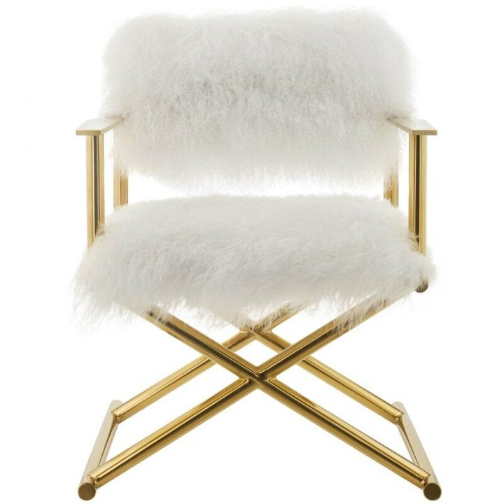 Chic Sitting Room Ideas Swanky Furry Vanity Chair