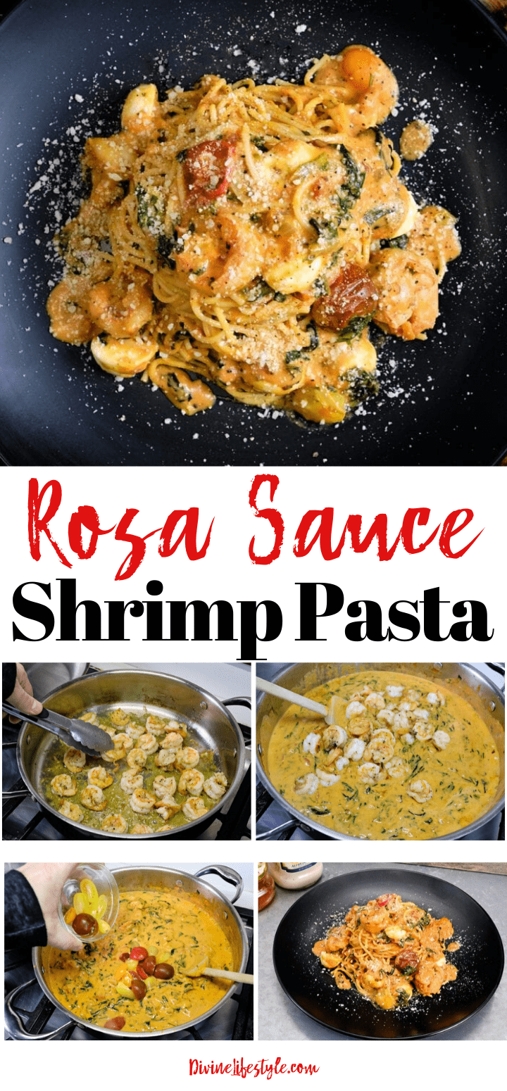 Best Shrimp Pasta with Rosa Sauce Recipe for the perfect Valentine's Day Date Night