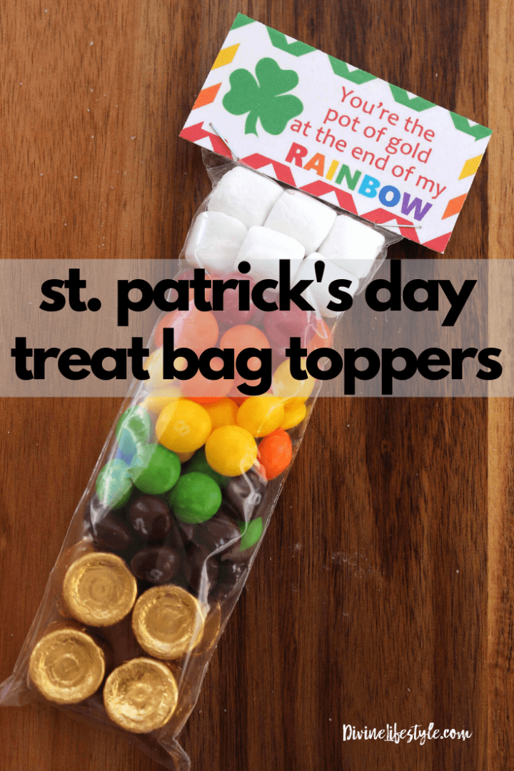 Free Printable St Patrick's Day Gift Tags for Pot of Gold Rainbow Treat Bags
