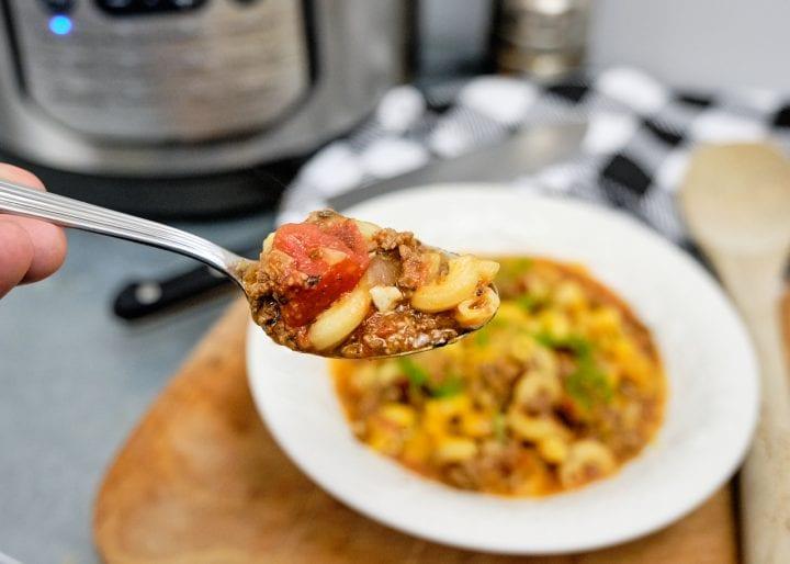 Instant Pot American Goulash Recipe - On Spoon
