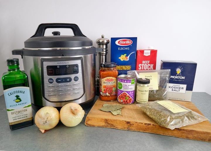 Instant Pot American Goulash Recipe - Ingredient Shot