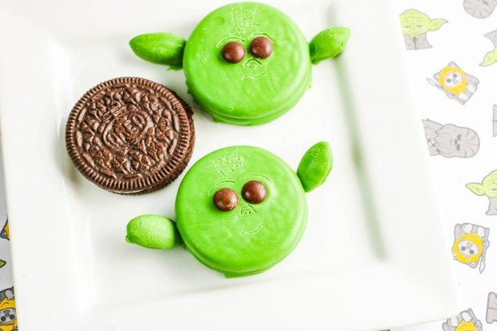 Baby Yoda Cookies made with OREOs
