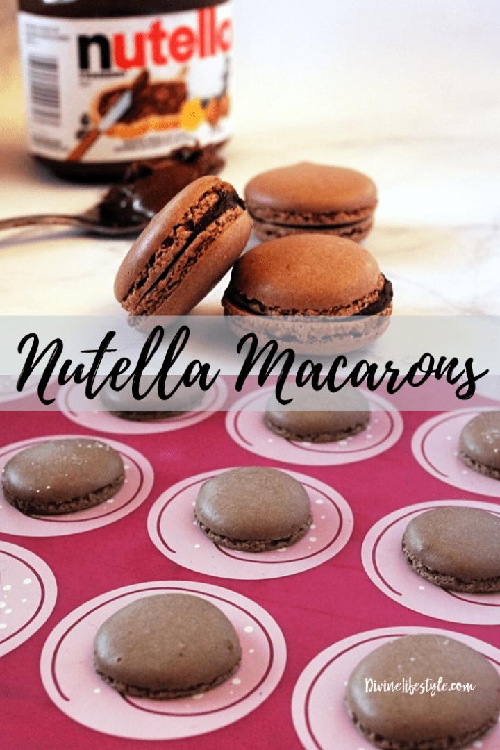 Chocolate Nutella Macarons