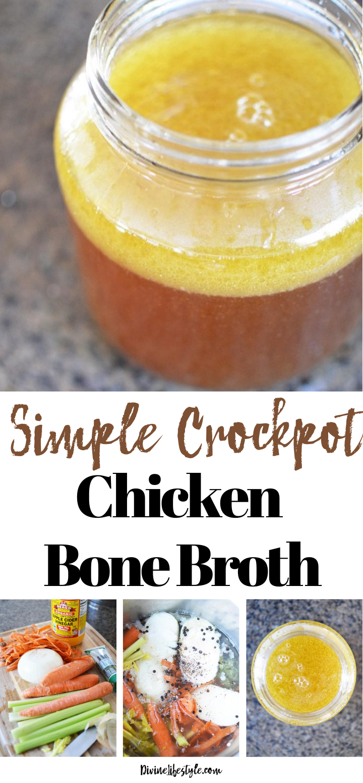 Simple Crockpot Chicken Bone Broth