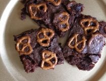 Caramel Pretzel Crunch Brownies