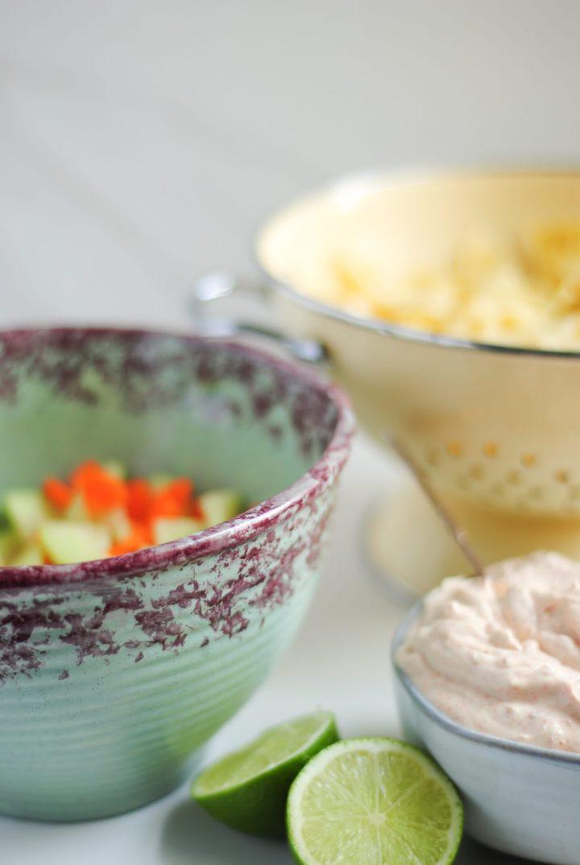 Cold Creamy Pasta Salad