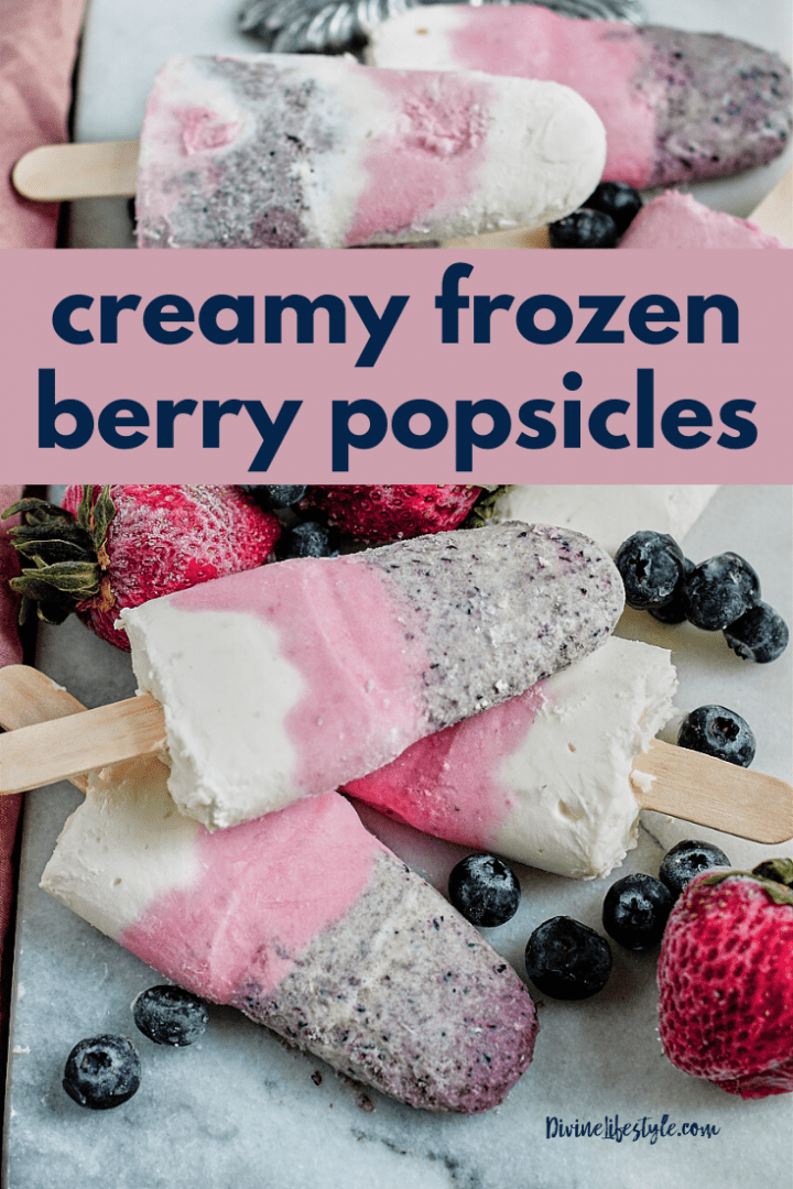 Creamy Frozen Berry Popsicle Recipe
