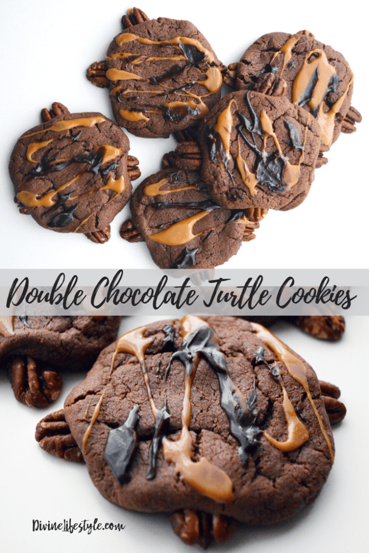 Double Chocolate Turtle Cookies Recipe