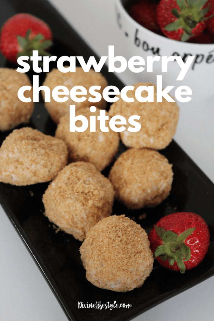 Easy Strawberry Cheesecake Bites