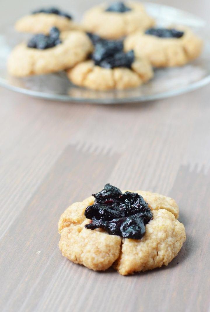 Lemon Blueberry Thumbprint Cookies