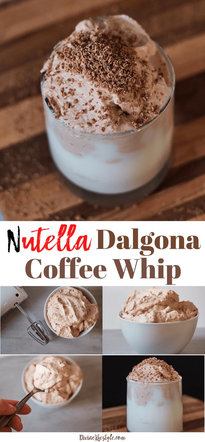 Nutella Dalgona Coffee Whip Recipe