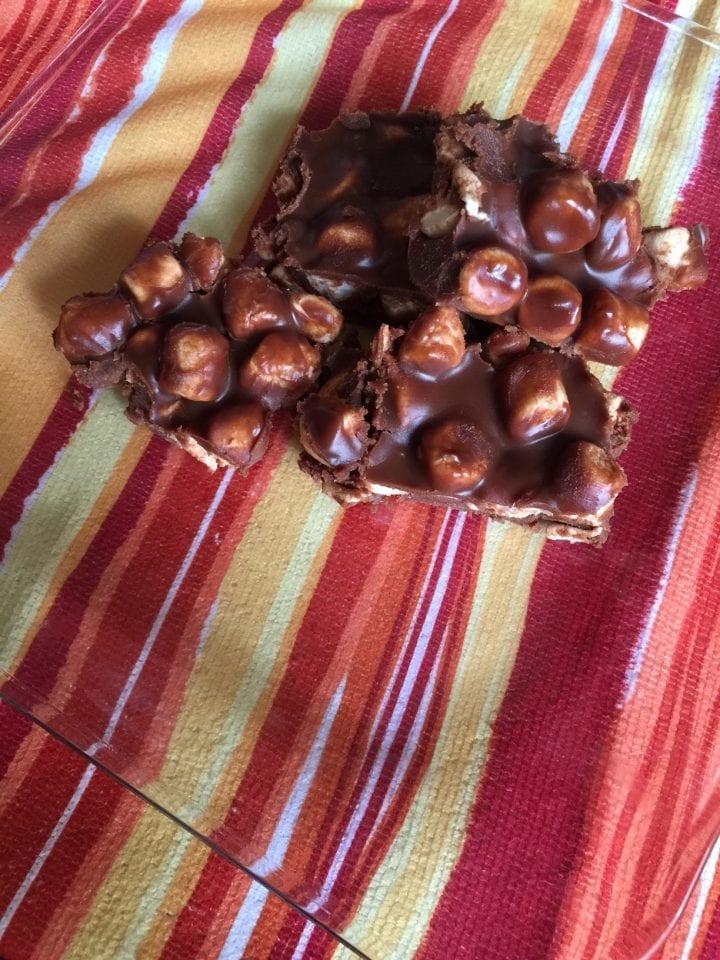 Peanut Butter Marshmallow Chocolate Bars No Bake