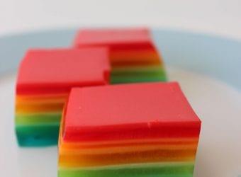 Rainbow Jello Squares