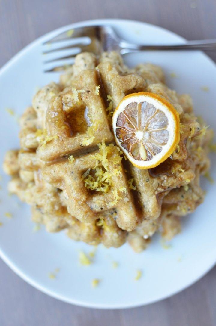 Vegan Lemon Ricotta Waffles
