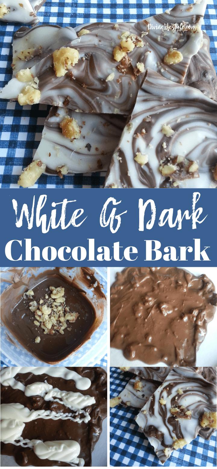 White and Dark Chocolate Bark