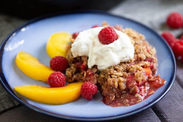 Raspberry Peach Crisp Recipe