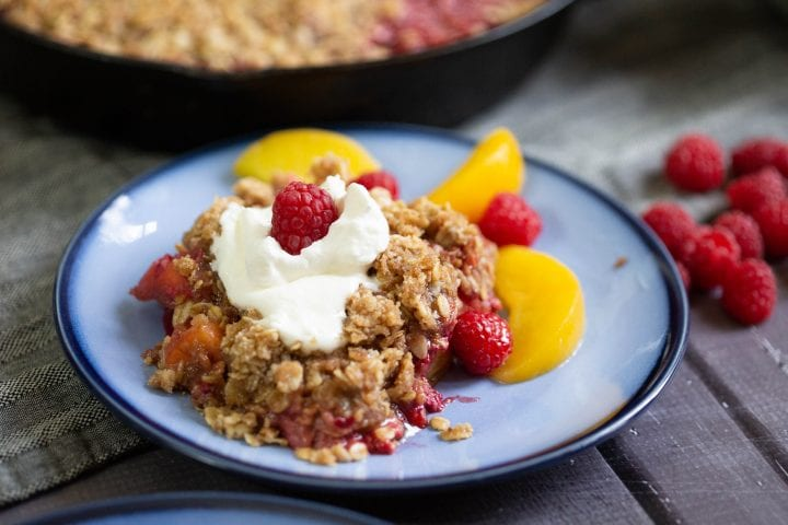 Raspberry Peach Crisp Recipe