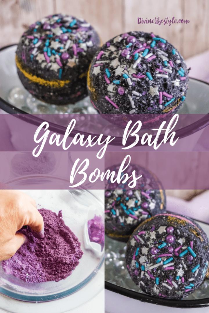 DIY Black Galaxy Bath Bomb Recipe
