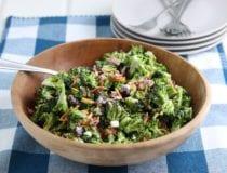 Easy Broccoli Salad with Bacon and Cheddar