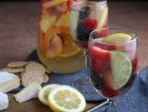 Easy Fruity Summer White Sangria Recipe with Rum