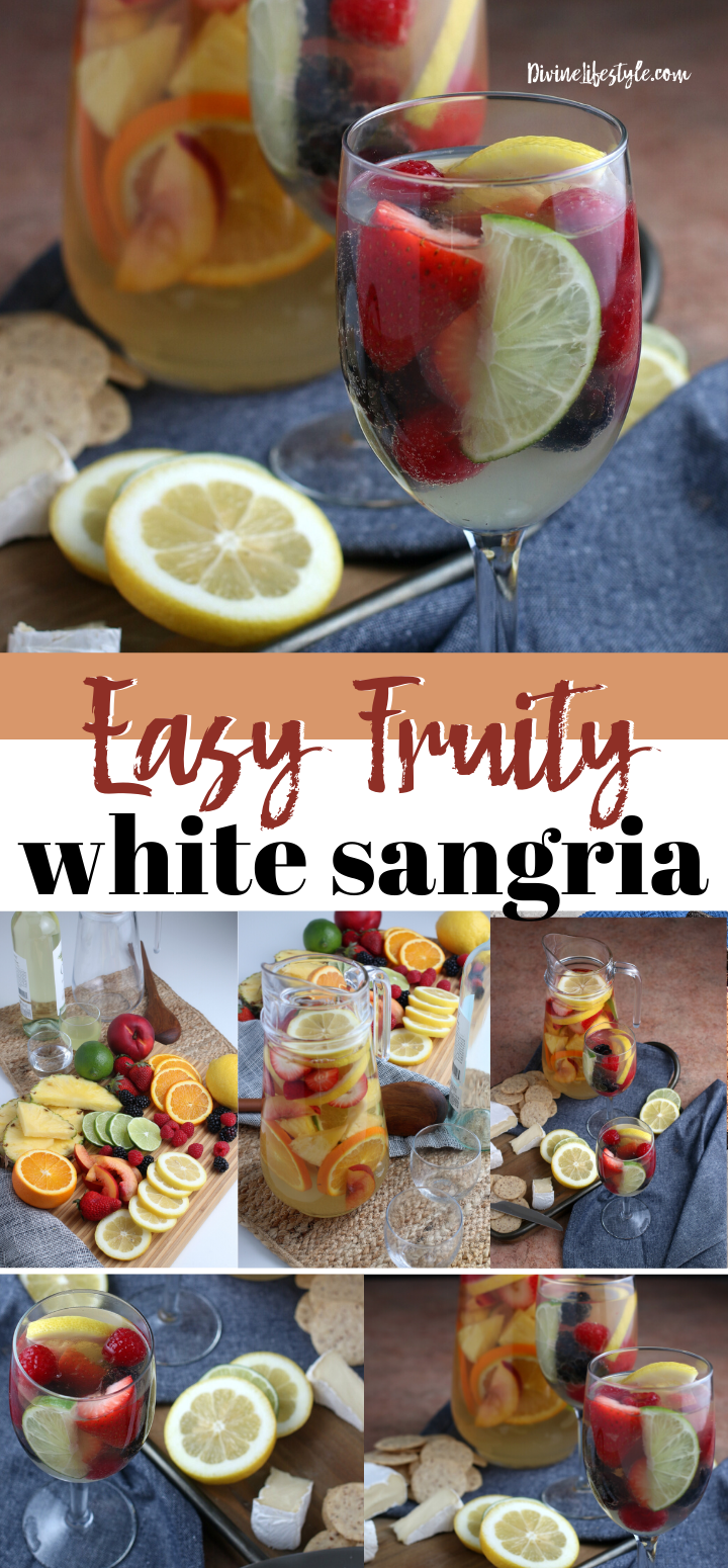 Easy Fruity Summer White Sangria Recipe with Rum fruity sangria