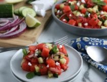 Easy Greek Style Watermelon Feta Mint Salad Recipe