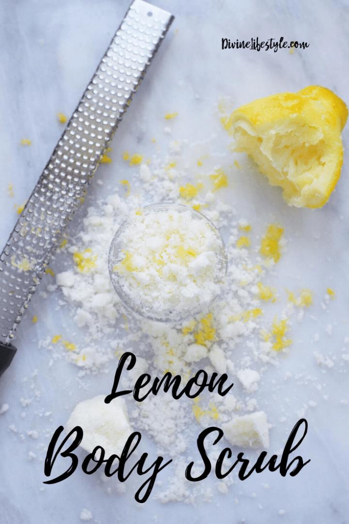 Lemon Body Scrub with Coconut Oil