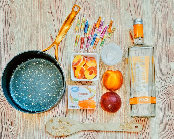 Peach Jello Shots Recipe Ingredients