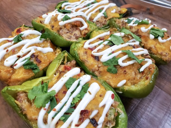 Spicy Stuffed Bell Peppers in Air Fryer