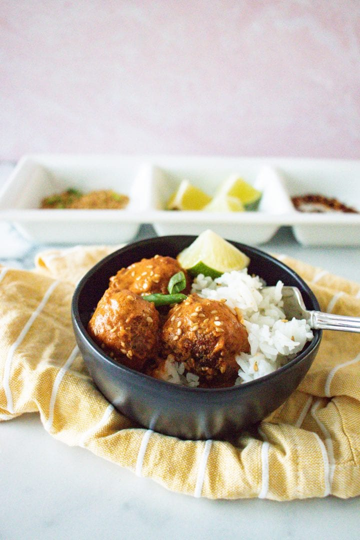 Thai Red Curry Meatballs
