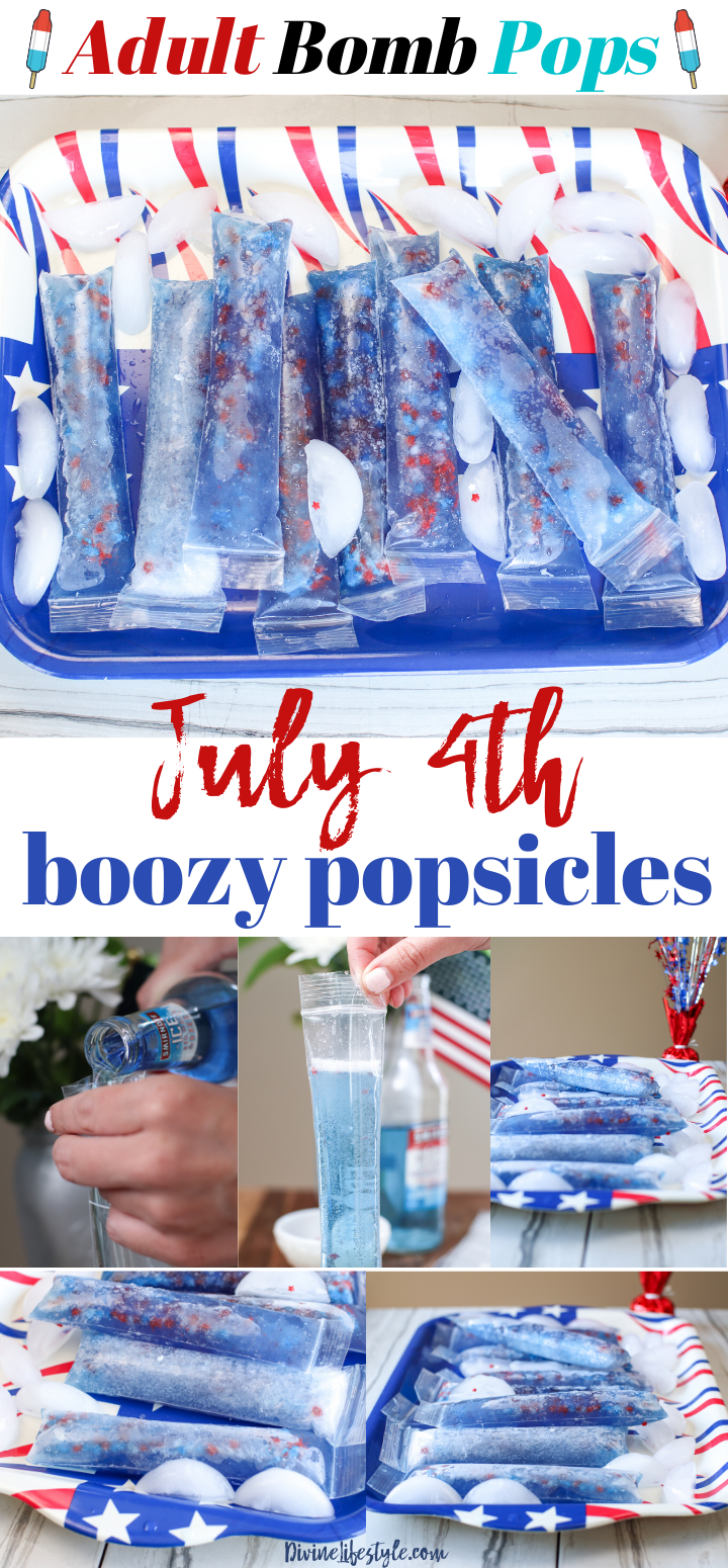 4th of July Alcoholic Popsicles Recipe