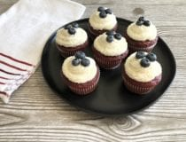 4th of July Red Velvet Cupcakes