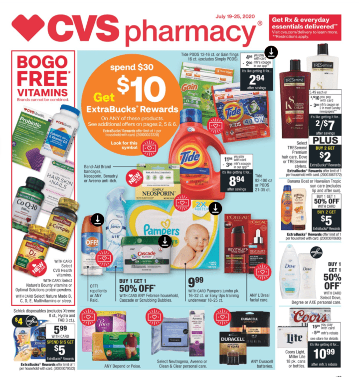 Save on Always and Tampax at CVS