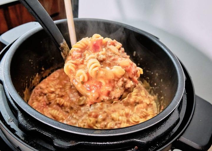 Instant Pot Homemade Hamburger Helper Recipe - Serve
