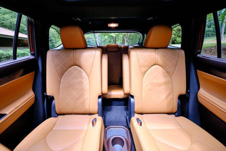 2020 Toyota Highlander Hybrid Platinum rear seating