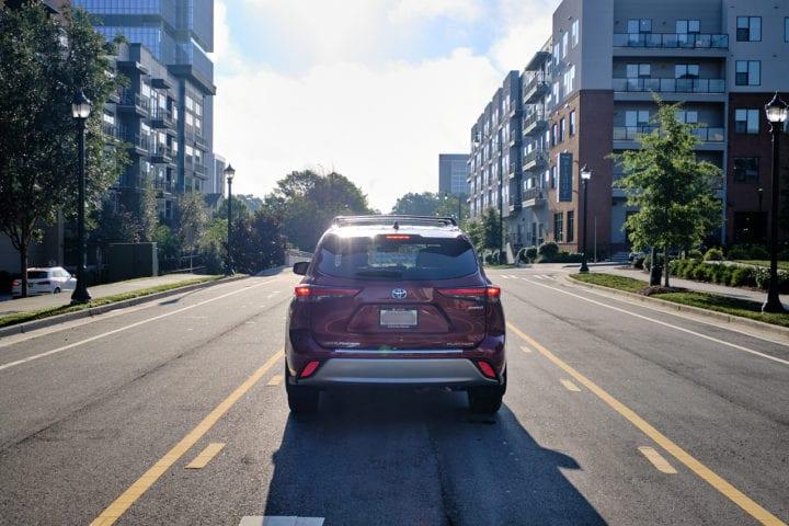 2020 Toyota Highlander Hybrid Platinum rear view