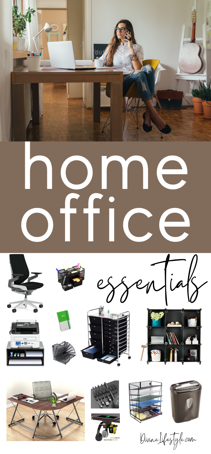 Remote Office Space Home Working Essentials - Best Home Office Necessities best work from home setup best home office setup