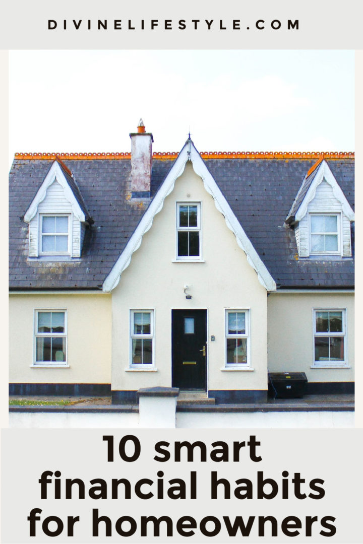 10 smart financial habits for homeowners
