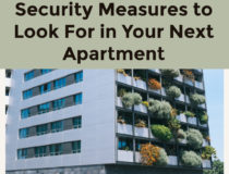 Security Measures to Look For in Your Next Apartment